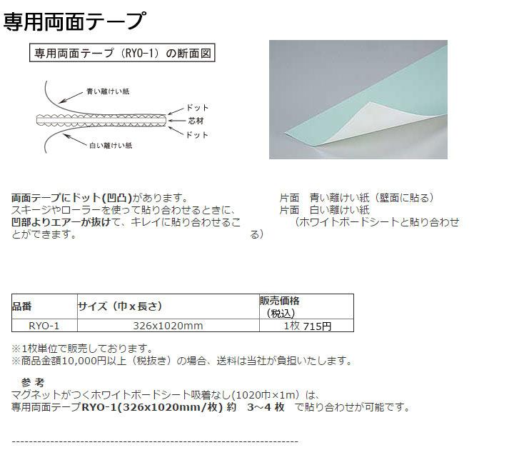 専用両面テープ特長と断面図・詳細