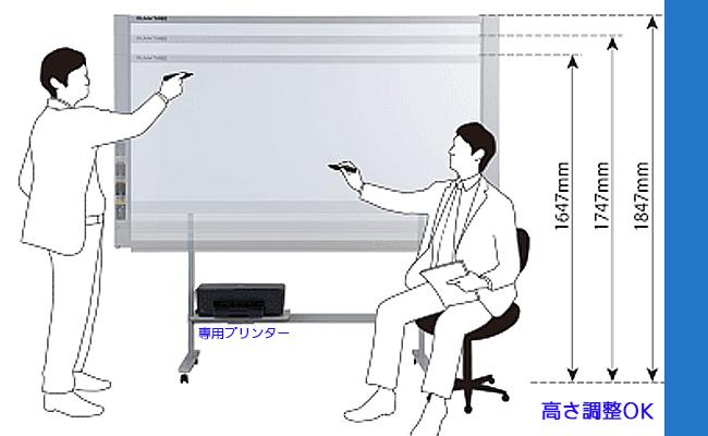 パソコンとUSBケーブルで接続してデータを保存・共有。データの形式はJPEG、PNG,PDFから、必要に応じて選べます。