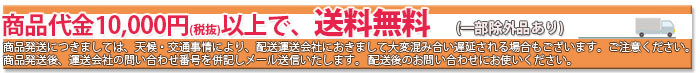 商品代金税抜10000円以上送料無料-除外有り