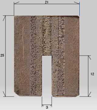 木目枠ホワイトボード製品断面画像上部