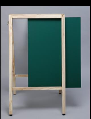 看板用脚付きチョークボード透明アクリルカバー