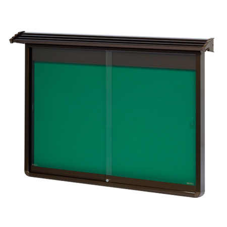 屋根付、強化ガラス付屋外掲示板 (品番:TAYL)ホワイトボード屋外用