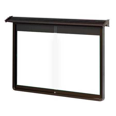 屋根付、強化ガラス付屋外掲示板 (品番:TAYL)ホワイトボード屋外用壁付け型