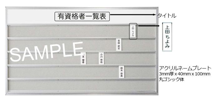 ネームプレート 掲示板 (品番apb)