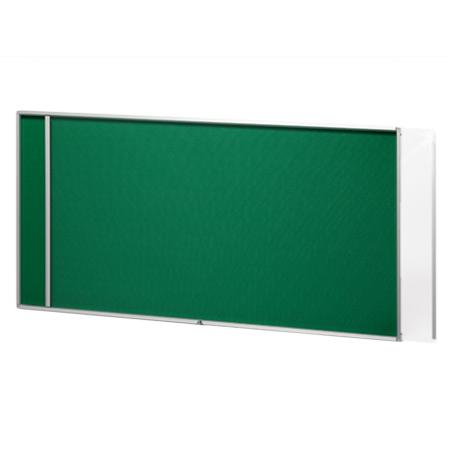 透明カバーが左右にスライドして掲示に便利